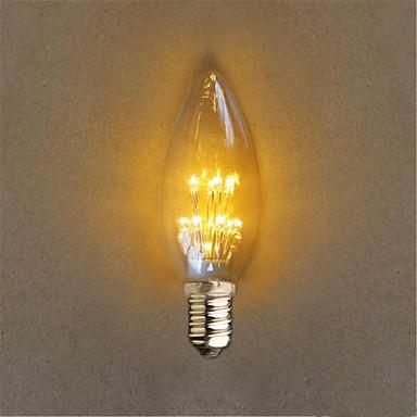 E14 Διακοσμητικό Φως C35 20 leds Dip LED Διακοσμητικό Κίτρινο 40lm 2300K AC 220-240V
