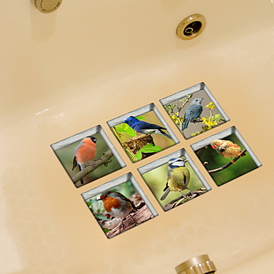 Ζώα Αυτοκολλητα ΤΟΙΧΟΥ Αεροπλάνα Αυτοκόλλητα Τοίχου Αυτοκόλλητα Τουαλέτας,Βινύλιο Υλικό Αφαιρούμενο Αρχική Διακόσμηση Wall Decal