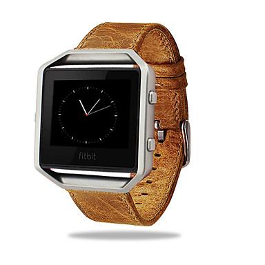 Ремешок для часов для Fitbit Blaze Fitbit Классическая застежка Кожаный ремешок Металл Кожа Повязка на запястье