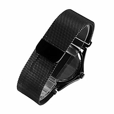 블랙 / 로즈 / 골드 / 실버 스테인레스 스틸 / 메탈 모던 버클 / 링크 팔찌 용 Huawei 손목 시계 18mm