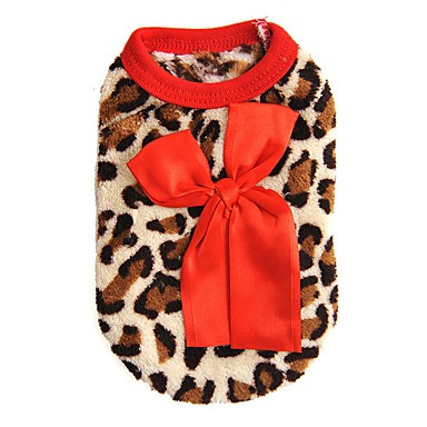 cheap Dog Clothing & Accessories-Cat Dog Sweatshirt Vest Dog Clothes Leopard Rose Red Polar Fleece Costume For Spring &  Fall Winter Men's Women's Casual / Daily Fashion