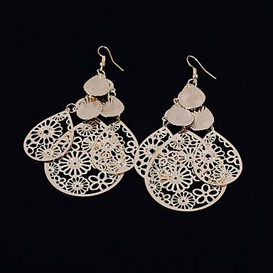 Kadın's Damla Küpeler Mücevher minimalist tarzı Avrupa alaşım Mücevher Altın Gümüş Düğün Parti Günlük Kostüm takısı