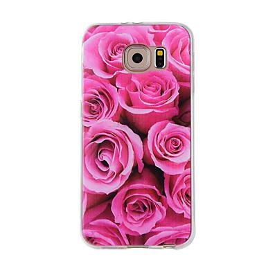 Etui Käyttötarkoitus Samsung Galaxy Kuvio Takakuori Kukka Pehmeä TPU varten Note 5 Note 4 Note 3