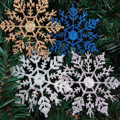 4szt dekoracje na Boże Narodzenie Boże Narodzenie śniegu w proszku 10 * 6.5cm kolor losowy