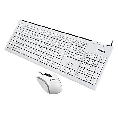 Biuro Mouse USB 1000dpi klawiatura Biuro USB Fuhlen L600