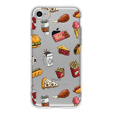용 울트라 씬 / 투명 / 패턴 케이스 뒷면 커버 케이스 과일 소프트 TPU Apple 아이폰 7 플러스 / 아이폰 (7) / iPhone 6s Plus/6 Plus / iPhone 6s/6 / iPhone SE/5s/5