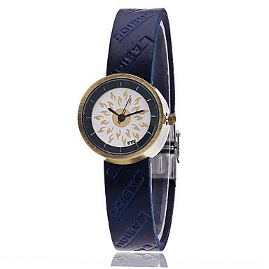 Bayanların Moda Saat Bilezik Saat Quartz PU Bant Eski Tip Günlük Siyah Mavi Kırmızı Kahverengi Yeşil Siyah Kahverengi Kırmzı Yeşil Mavi