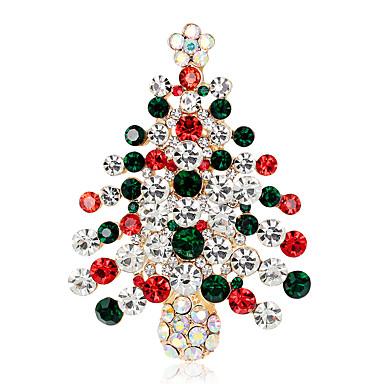 Kadın's Broşlar Moda Noel Yapay Elmas Mücevher Uyumluluk Parti Özel Anlar Doğumgünü Hediye Günlük