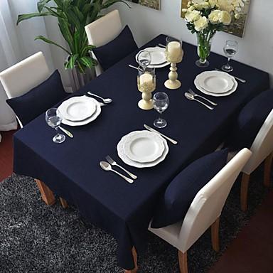 Τετράγωνο Μονόχρωμο Τραπεζομάντιλα , 100% Βαμβάκι Υλικό Πίνακας Dceoration Ξενοδοχείο Τραπέζι