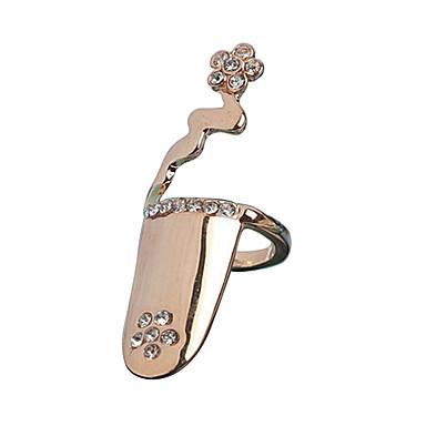 Ανδρικά Γυναικεία Δαχτυλίδια νυχιών δάχτυλο Μοντέρνα Εξατομικευόμενο Προσομειωμένο διαμάντι Κράμα Κοσμήματα Για Γάμου Πάρτι Καθημερινά