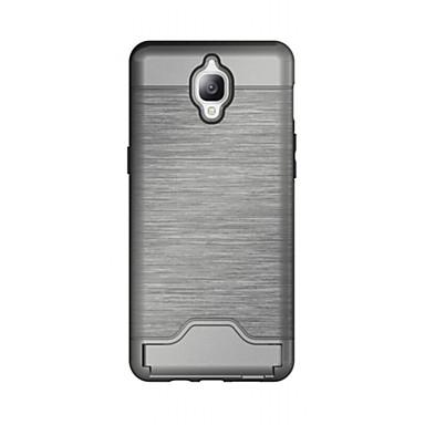 Için Kart Tutucu / Satandlı Pouzdro Arka Kılıf Pouzdro Solid Renkli Sert TPU için OnePlus One Plus 3