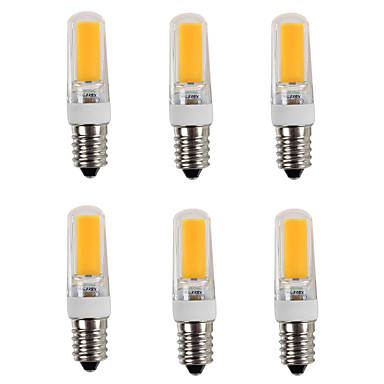 6pcs 3200lm E14 LED Φώτα με 2 pin T 1 LED χάντρες COB Θερμό Λευκό Ψυχρό Λευκό 220-240V