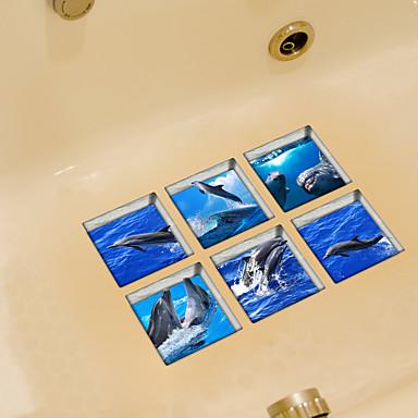 حيوانات ملصقات الحائط لواصق حائط الطائرة لواصق المرحاض, الفينيل تصميم ديكور المنزل جدار مائي مرحاض