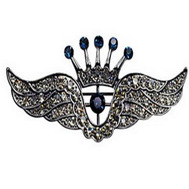 Koreański stopu mężczyźni korona skrzydłami broszką
