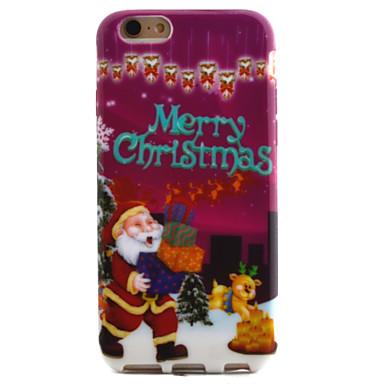 Для С узором Кейс для Задняя крышка Кейс для Новогодняя тематика Мягкий TPU Apple iPhone 6s/6