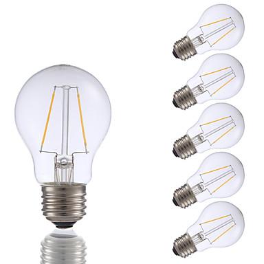 GMY® 6szt 200 lm E26 Żarówka dekoracyjna LED A17 2 Diody lED COB Przysłonięcia Ciepła biel AC 110-130V