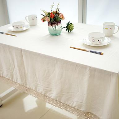 Dörtgen Solid Masa Örtüleri , Linen / Pamuk Karışımı MalzemeDüğün Dekorasyon Noel Dekor Favor Tablo Dceoration Düğünler Akşam yemeği