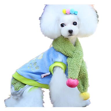 Köpek Tulumlar Köpek Giyimi Sevimli Zıt Renkli Gökküşağı