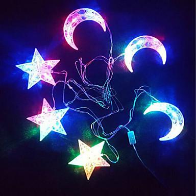별 달 빛 문자열은 발광 (30) 램프 홀더 (6) 컴퓨터가 컬러
