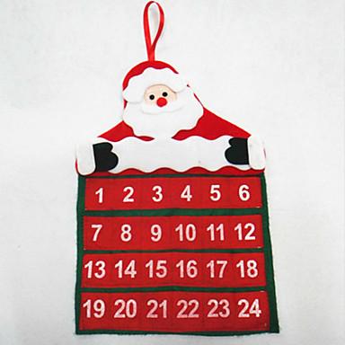 karácsonyi naptár santa claus naptár 30 * 40cm születésnapi készlet