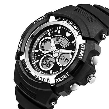 SANDA Miesten Urheilukello Armeijakello Smart Watch Muotikello Rannekello Digitaalinen Japanilainen kvartsi Ajanotto Vedenkestävä LED