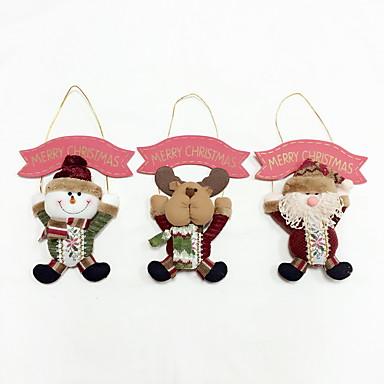 1 pc santa claus christmas snowman elk wysokiej jakości ozdoba