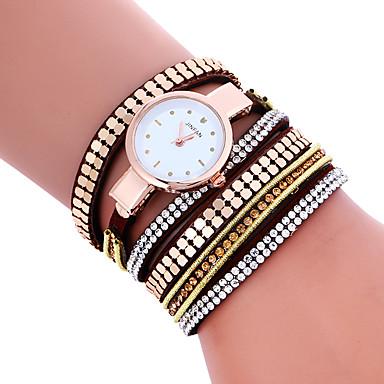 여성용 패션 시계 팔찌 시계 석영 / PU 밴드 멋진 캐쥬얼 블랙 화이트 블루 레드 브라운 핑크 로즈