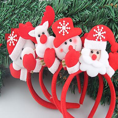 2adet christmas kafa bandı yılbaşı partisi tek kafa ışık saç headdress çeşitli toka sahne (stil rastgele)