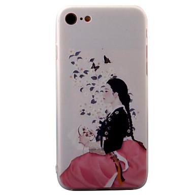Varten Koristeltu / Kuvio Etui Takakuori Etui Seksikäs nainen Kova Akryyli varten AppleiPhone 7 Plus / iPhone 7 / iPhone 6s Plus/6 Plus /