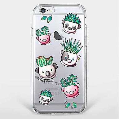 용 울트라 씬 / 투명 / 패턴 케이스 뒷면 커버 케이스 동물 소프트 TPU Apple 아이폰 7 플러스 / 아이폰 (7) / iPhone 6s Plus/6 Plus / iPhone 6s/6 / iPhone SE/5s/5