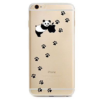 Kılıf Na Apple iPhone X iPhone 8 iPhone 6 iPhone 7 Plus iPhone 7 Wzór Czarne etui Zabawa z logiem Apple Panda Miękkie TPU na iPhone X