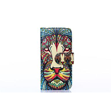 Na Portfel / Etui na karty / Z podpórką / Flip Kılıf Futerał Kılıf Wzór zwierzęcy Twarde Skóra PU na Apple iPhone 6s/6