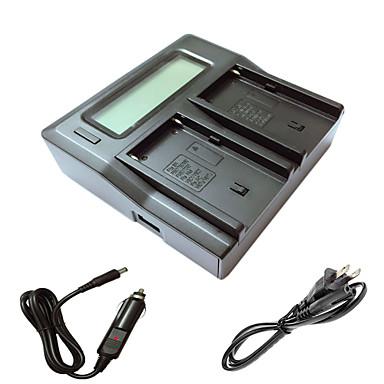 sony np-F550 np-F330 np-F530 np-F570 npf550 FM50 FM500H kamera batterys araba şarj kablosu ile ismartdigi F550 FM500H lcd çift şarj