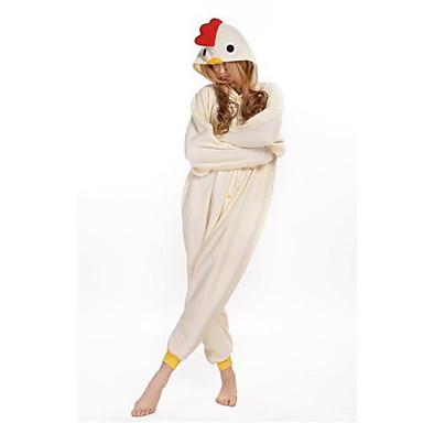 Adulți Pijama Kigurumi Rooster / pui Animal Pijama Întreagă Lână polară Cosplay Pentru Bărbați și femei Sleepwear Pentru Animale Desen animat Festival / Sărbătoare Costume