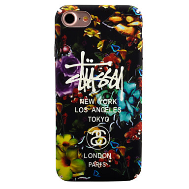 Uyumluluk iPhone 7 Kılıf iPhone 7 Plus Kılıf iPhone 6 Kılıf Kılıflar Kapaklar Karanlıkta Parlayan Temalı Arka Kılıf Pouzdro Çiçek Sert PC