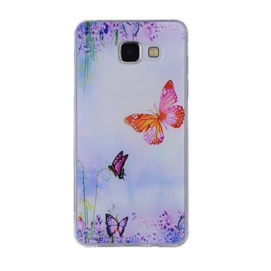 Etui Käyttötarkoitus Samsung Galaxy A5(2016) A3(2016) Kuvio Takakuori Perhonen Pehmeä TPU varten A8(2016) A5(2016) A3(2016) A8 A7 A5 A3