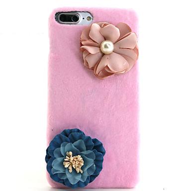 용 크리스탈 케이스 뒷면 커버 케이스 꽃장식 하드 텍스타일 Apple 아이폰 7 플러스 / 아이폰 (7) / iPhone 6s Plus/6 Plus / iPhone 6s/6