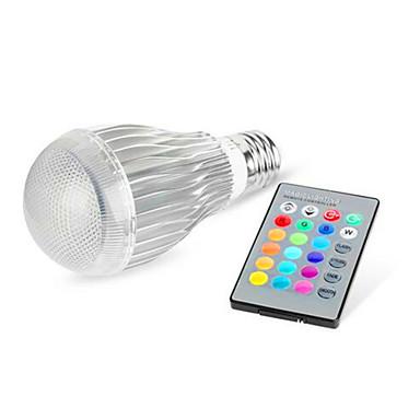 10 E26/E27 Okos LED izzók G95 1 Nagyteljesítményű LED 480 lm RGB Állítható / Távvezérlésű AC 85-265 V 1 db.