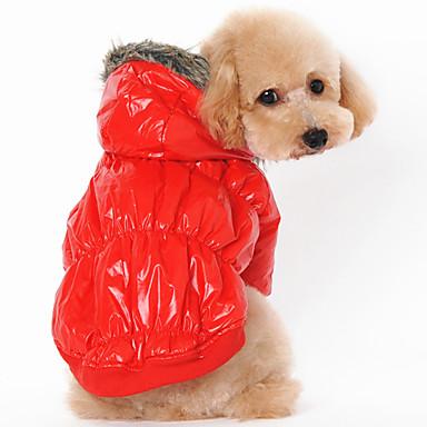 Pies Płaszcze Bluzy z kapturem Ubrania dla psów Codzienne Zatrzymujący ciepło Stały Black Coffee Czerwony Niebieski