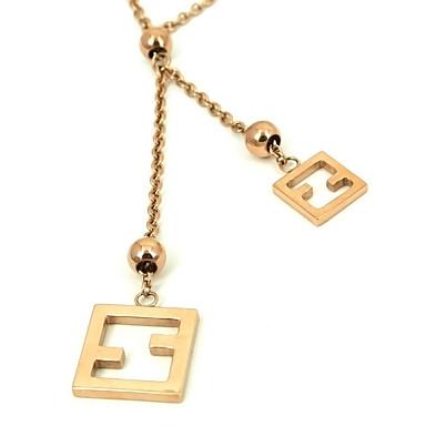 moda paslanmaz çelik kolye kolye 316l altın yükseldi