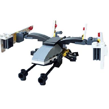 Figurki i zabawki pluszowe / Klocki na prezent Klocki Model / klocki Myśliwiec ABS 5-7 lat / 8-13 lat / 14 lat i powyżej Szary / Ivory