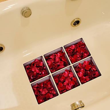 Wzory roślinne Naklejki Naklejki ścienne lotnicze Naklejki toaleta, Winyl Dekoracja domowa Naklejka Toaleta