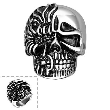 Δαχτυλίδι Ανοξείδωτο Ατσάλι Skull shape Ασημί Κοσμήματα Halloween Καθημερινά Causal Αθλητικά 1pc