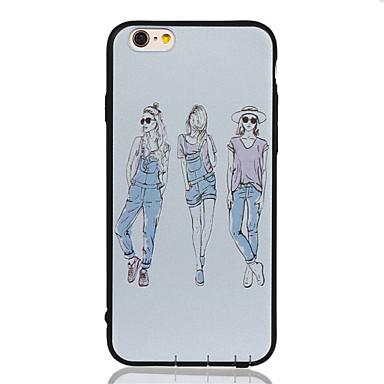 Için Temalı Pouzdro Arka Kılıf Pouzdro Seksi Kadın Yumuşak TPU için Apple iPhone 6s Plus/6 Plus / iPhone 6s/6