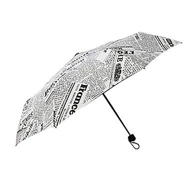أسود / الأبيض مظلة ملطية مظلة الشمس Plastic العرباية