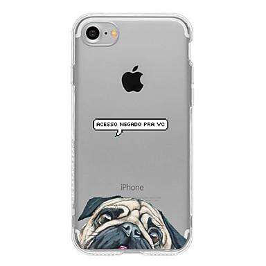 Mert Ultra-vékeny / Átlátszó / Minta Case Hátlap Case Kutya Puha TPU AppleiPhone 7 Plus / iPhone 7 / iPhone 6s Plus/6 Plus / iPhone 6s/6