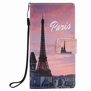 huawei p9 lite p8 lite 에펠 탑 그림 pu 전화 케이스