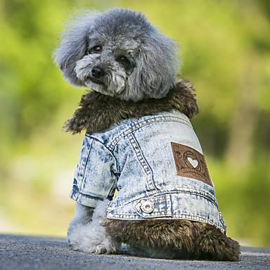 Koira Takit Farkkutakit Koiran vaatteet Kantri Pidä Lämmin Muoti Farkut Musta Sininen Asu Lemmikit