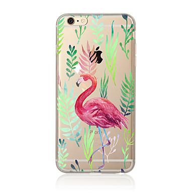 Pouzdro Uyumluluk Apple iPhone X iPhone 8 Plus iPhone 5 Kılıf iPhone 6 iPhone 7 Yarı Saydam Temalı Arka Kapak Flamingo Yumuşak TPU için