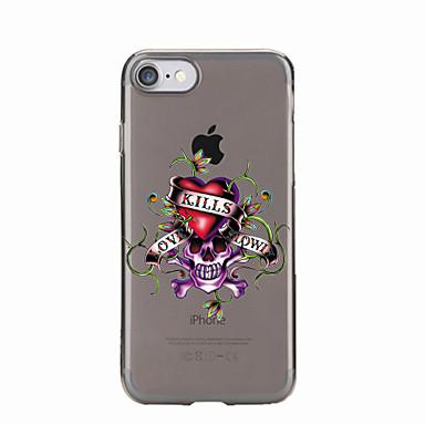Kılıf Na Apple Etui iPhone 5 iPhone 6 iPhone 7 Półprzezroczyste Wzór Czarne etui Czaszki Miękkie TPU na iPhone 7 Plus iPhone 7 iPhone 6s